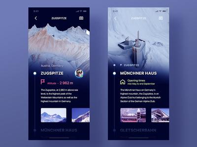 3D Mountain Explorer App dark trip expeditions travel germany height map 3d explorer app ios mountain