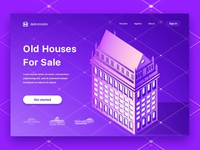 Old Houses For Sale Landing Page concept