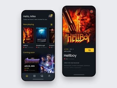 Cinema Ticketing Mobile UI Concept