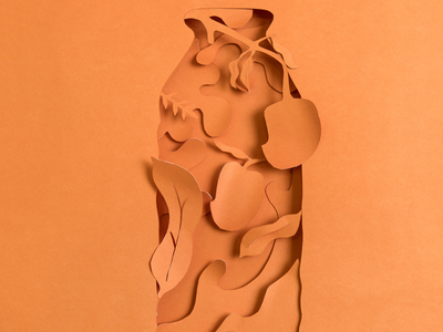 Mango design illustration art direction print papercut papercutting nature drink advertising