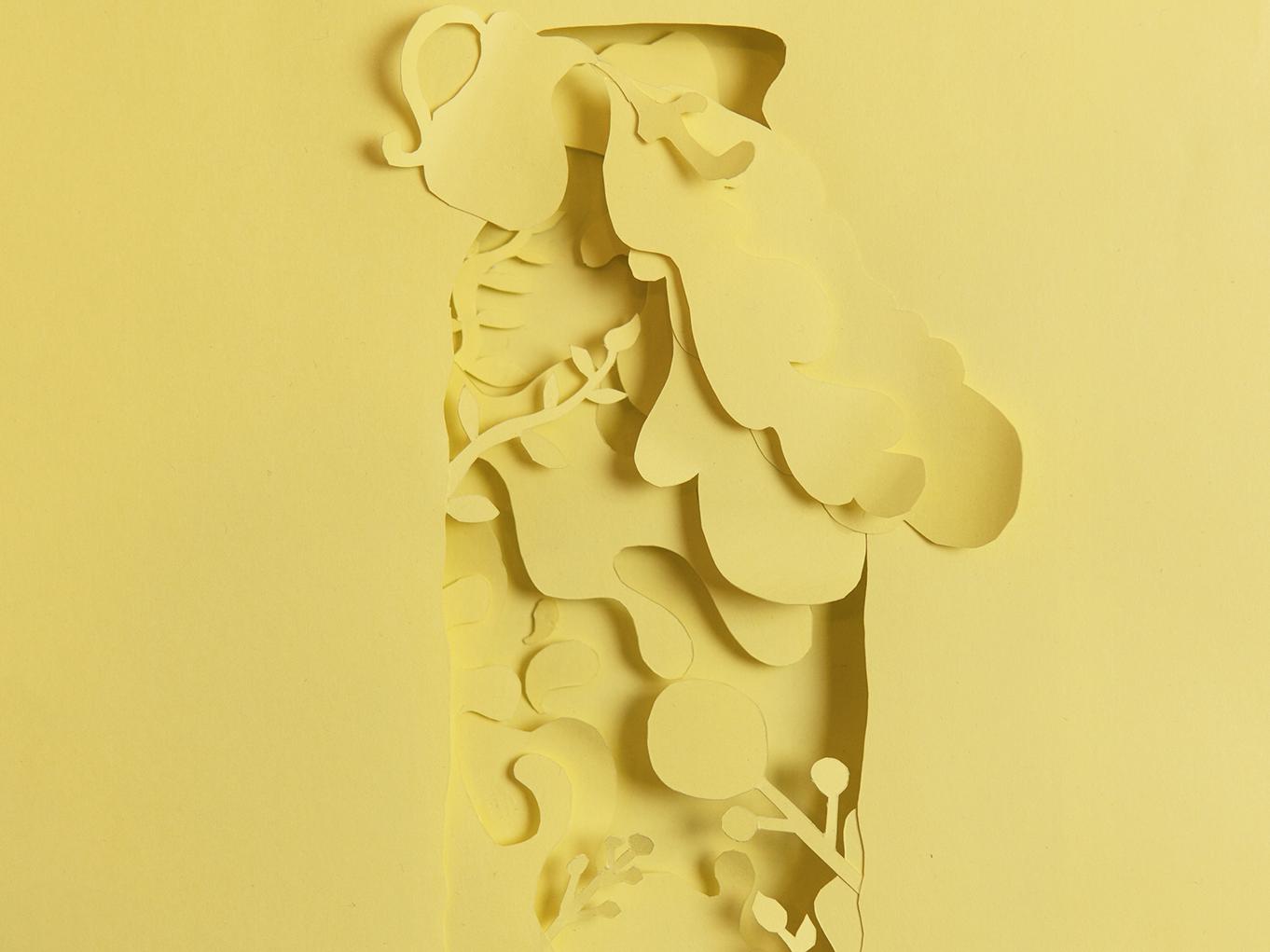 Yogurt design art direction drink illustration nature print papercutting papercut advertising