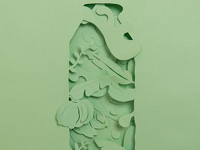 Banana typography print design papercutting art direction nature papercut illustration drink advertising