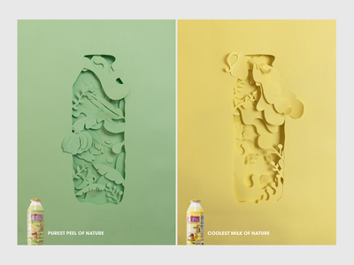 Active drink ad Papercut style typography sculpture sculpture illustration design brand design papercutting print illustration nature papercut art direction drink advertising