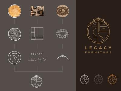 Legecy Logo identity design furniture design monogram logo monogram logotype brand design print illustration branding logo advertising