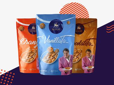 Rivoli Cookie Packaging graphic design mockup packaging design art direction cookie print illustration packaging