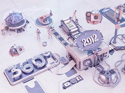 2012 Agency life - Illustration - 3D lightning metalic agency technology modeling 3d illustration 360