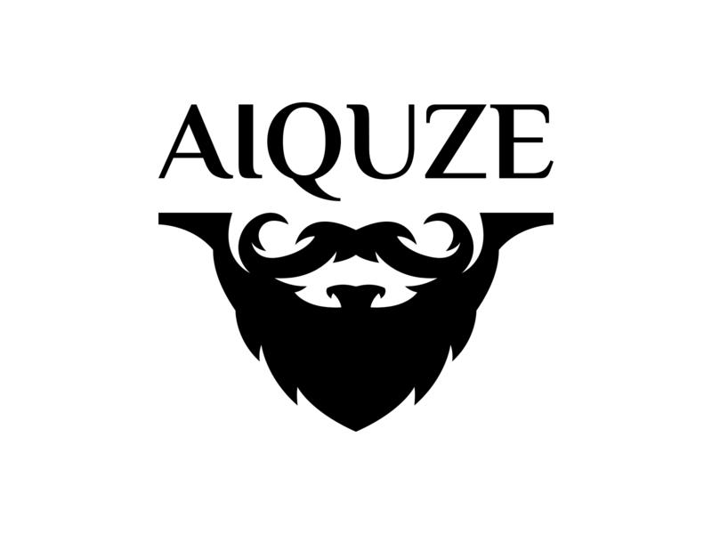 AIQUZE retro character vintage typography symbol man mark logotype logo mark logo illustration illustraion identity brutal branding beard barbershop barber badge logo badge