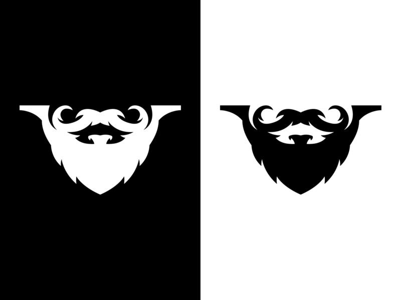 AIQUZE retro type ukraine vector logo design icon vintage typography symbol logo mark logo illustration identity brutal branding beard barbershop barber badge logo badge