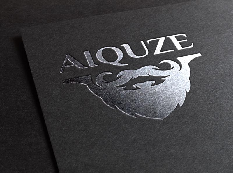 AIQUZE logotype mark symbol vintage beard badge design badge logo badge logo vector typography type mockup lettering illustration graphic draw design branding art