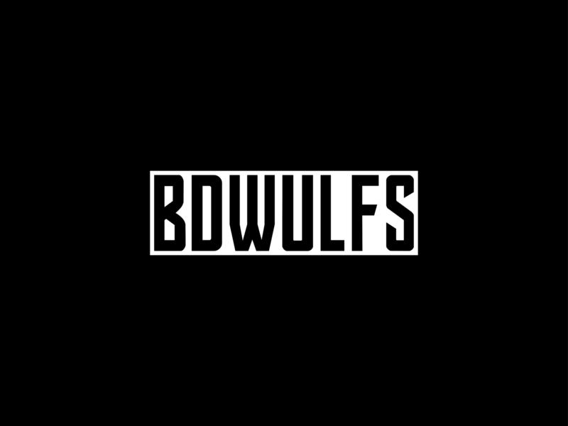 BDWULFS streamers streamer logo typography team logo logo design gamers wolf logo wolf type art font design type design mascot design mascot logo wolves wolfs gaming logo gaming esports logo esports branding