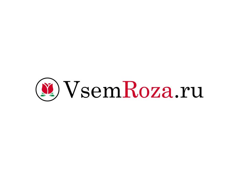 VsemRoza.ru mark typography type branding badge negative space logo negative space minimal roses logo logo design flowershop flowers illustration flower illustration flower logo flower rose flower rose logo rose