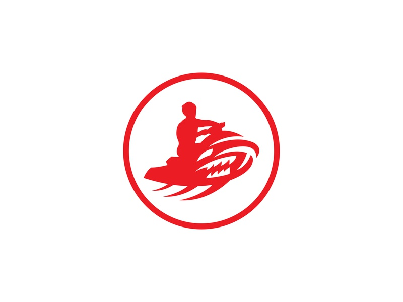RED SHARKS logotype water vector summer sports sport sea ocean minimal logo minimal mascot design mascot logo logo mascot logo designer logo design jet ski fast extreme club logo character
