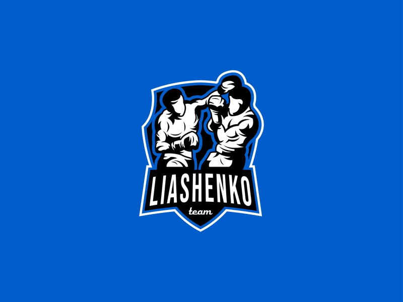 LIASHENKO TEAM  | MASCOT LOGO fighter branding mark symbol boxing logo boxers boxer modern logo mascot mascot logo sports logo illustration gym logo gym sport school mma logotype logo boxing