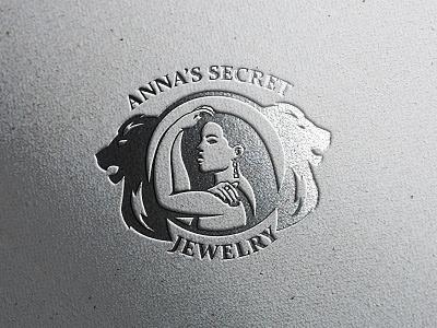 ANNA'S SECRET | JEWELRY branding identity minimal logo logo designs logo designer stamp emblem kyiv brand identity girl logo girl character mascot character mascot logo jewelry store jewelry shop jewelry logo jewelry symbol logo mark ukraine