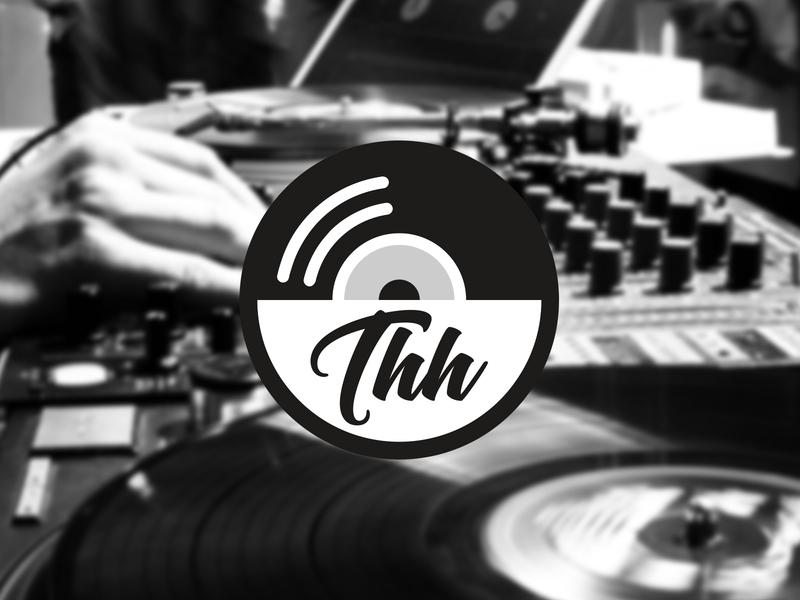 TRANSLATE HIP-HOP | THH emblem language typogaphy record music logo music type design font design hip-hop vinyl identity typography modern logo minimalist logo mark logo illustration icon branding badge