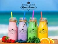 Quantum milkshake Logo Design