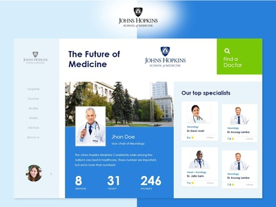 Medical landing Page Layout