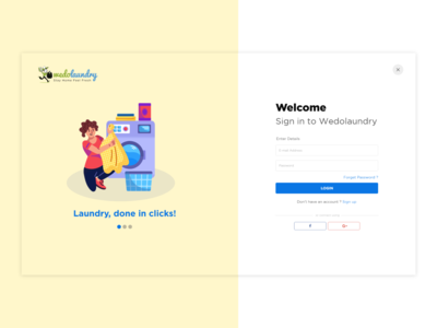 Simple and Attractive login page design shot