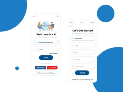 App login & Register page design