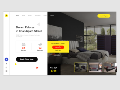 Room Booking Landing Page design