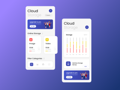 Storage App UI design