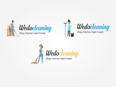 wedocleaning logo Design