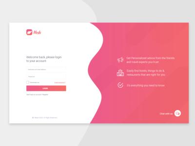 Mesh Login page Design