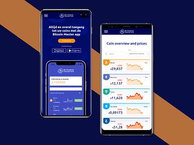 Bitcoin Meester cryptocurrency mobile ui mobile design mobile app design mob ui