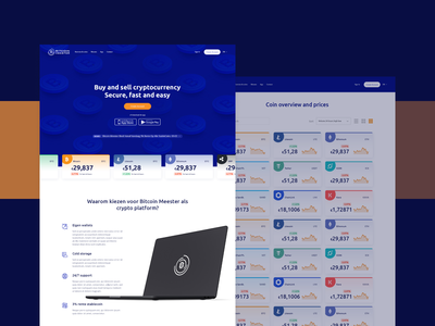 Bitcoin Meester webdesign web cryptocurrency ui ux