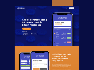 Bitcoin Meester web design webdesign cryptocurrency ux ui