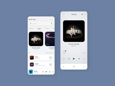 Player Interface Concept mobile app design mobile app mobile design mobile ui play playlists music player uidesign ui