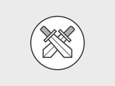 † Macbeth dagger badge