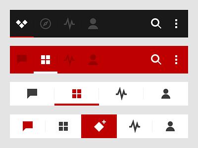 Action bar vs tab bar actions tabs android ios icons navigation