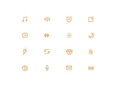 Simplicons custom simple linear stroke icon