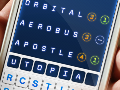 80s Console Style Game UI 80s ios game words retro console.