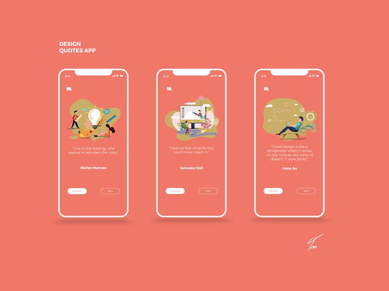 Design Quotes typography concept redesign behance ui vector branding app concept illustraion quotes designchallenge dailyui 100daychallenge