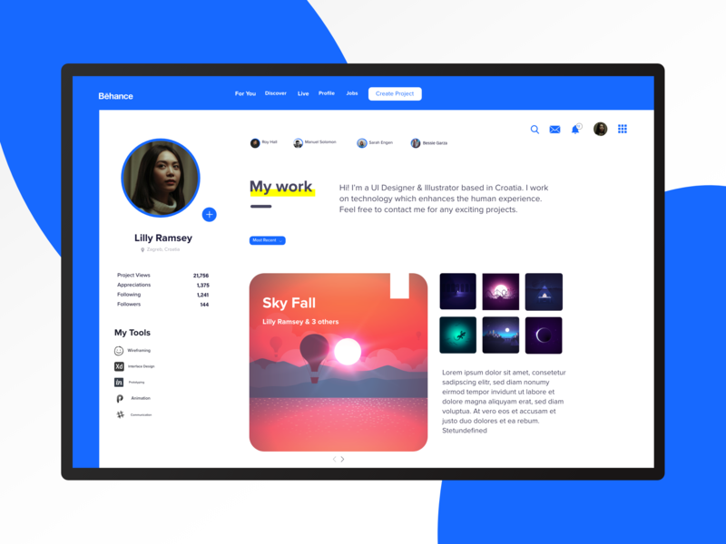 Behance Web Redesign by Tyrone Mazarura on Dribbble