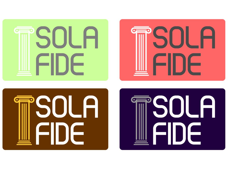 Sola Fide typography design theology illustration bible vector logo