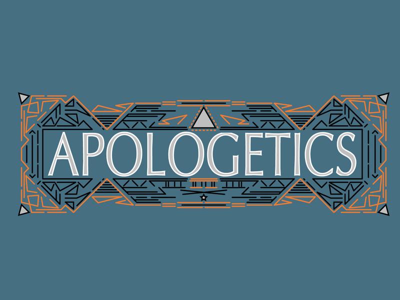 Apologetics Banner theology bible vector design logo