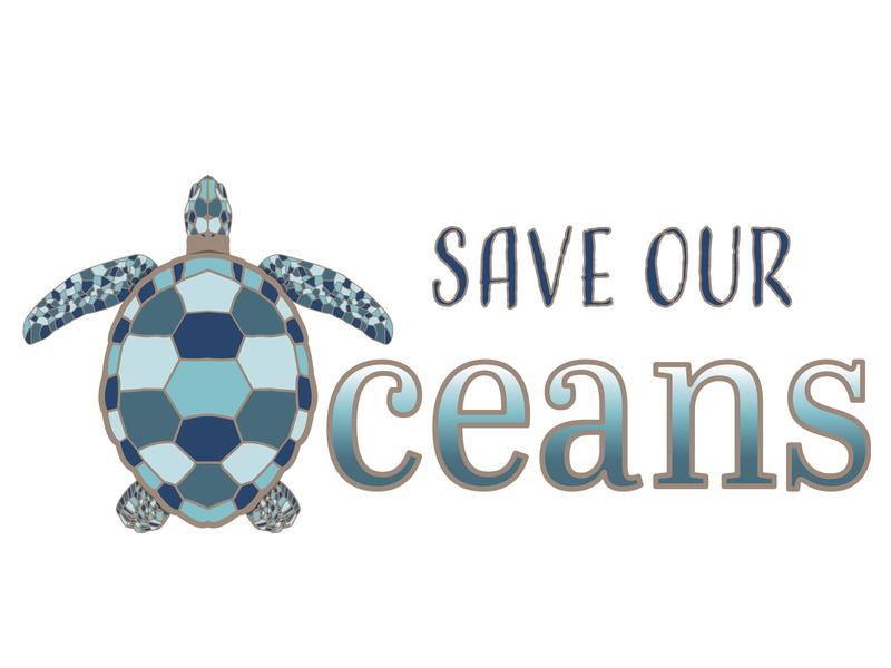 Save Our Oceans plastics blue illustration vector graphicdesign environmental seaturtle sea turtle fish oceans