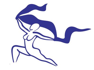 Dancer illustrator vector logo dancer power women strength