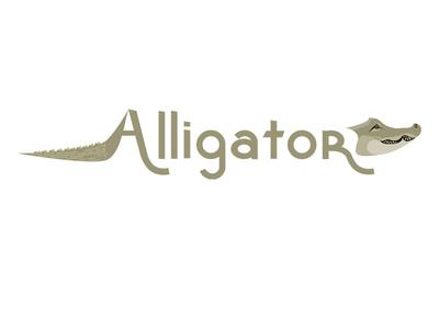 Alligator tail vector graphic children typography teeth gator alligator
