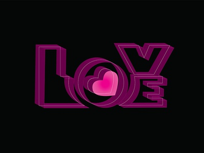 Love vector graphicdesign heart lettering typography love stickers