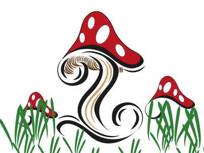 Letter i for #36daysoftype on Instagram letteri toadstool lettering typography shrooms