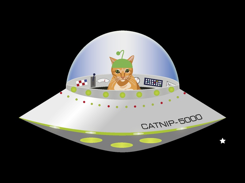 Alien Cat vectorillustration vectorart ufo tabby stickers vector illustrator kittens outerspace spaceships aliens stickermule cat