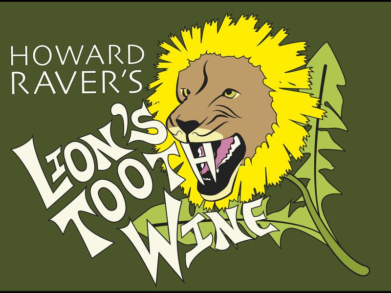 Lion's Tooth Wine typogaphy art lion vector wine bottle wine alcohol graphic design graphic  design dandelion lions illustrator graphicdesign illustration label design branding wine label
