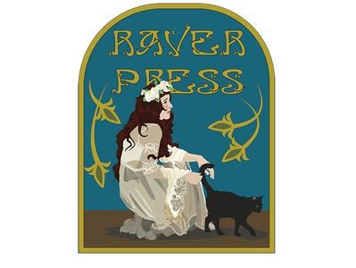 Raver Press art pets animal cats women in illustration albany women graphicdesign fairy art nouveau