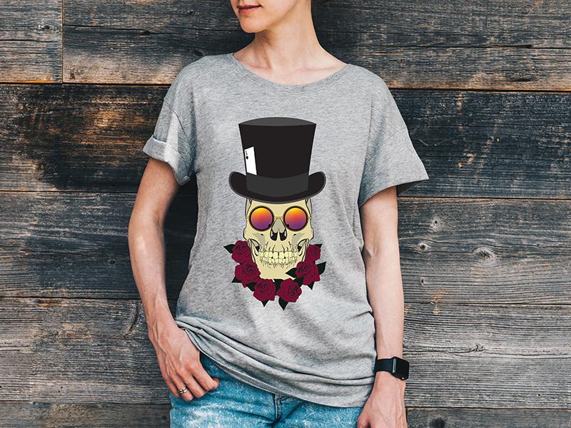 Mr. Skull Cap T-shirt albany illustrator vector design illustration top hat skeleton graphicdesign skulls tee shirt tee design