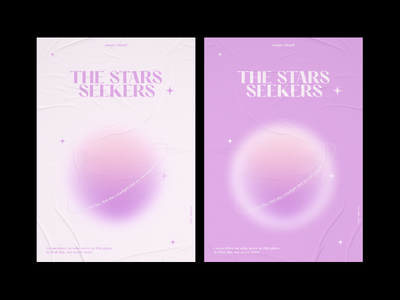 the star seekers - poster bts txt typo minimal colors purple poster graphic design