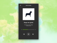 Daily UI Challenge #009 - Music Player
